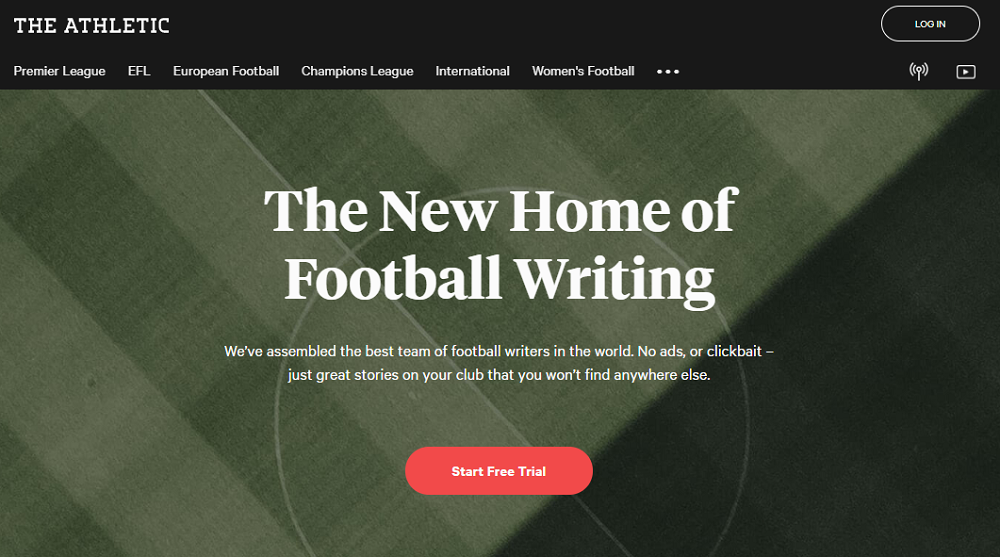 The Athletic  promises tech-powered, expert-driven football journalism.